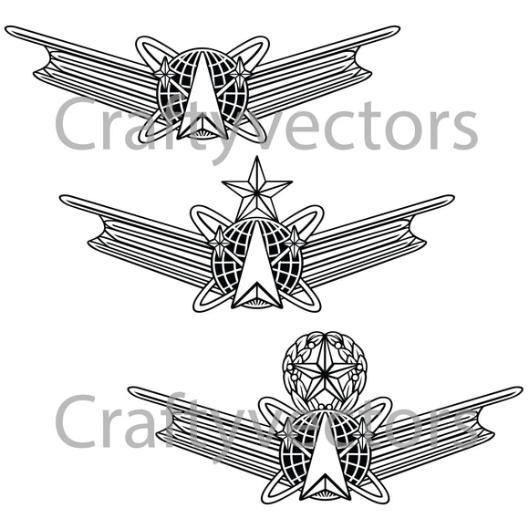 Air Force Space Operations Badge Vector File