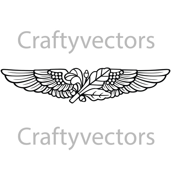 Navy Aviation Supply Corps Badge Vector File