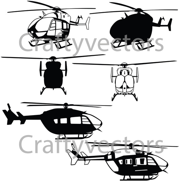UH-72 Lakota Helicopter Vector File