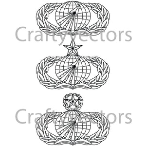 Air Force Acquisitions Occupational Badge Vector File