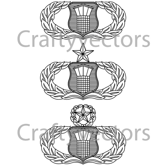 Air Force Air Traffic Controller Vector File