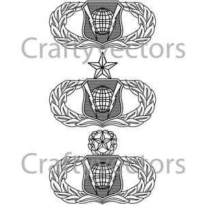 Air Force Command and Control Badge Vector File
