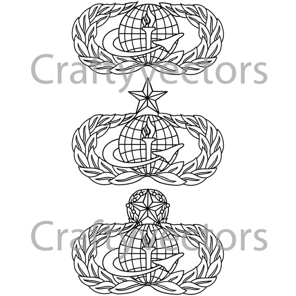 Air Force Force Support Badge Vector File