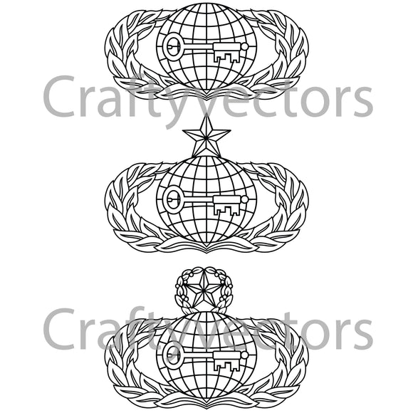 Air Force Intelligence Badge Vector File