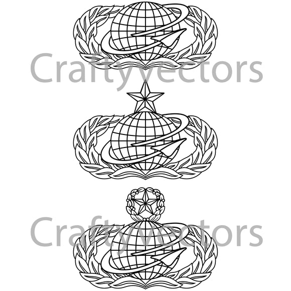 Air Force Manpower and Personnel Badge Vector File