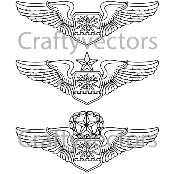 Air Force Navigator Badge Vector File