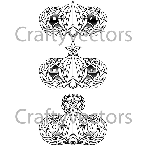 Air Force Space Badge Vector File