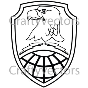 Army Space Command Badge Vector File