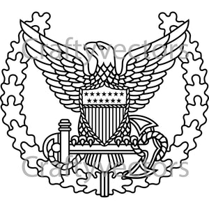Coast Guard Command Ashore Badge Vector File