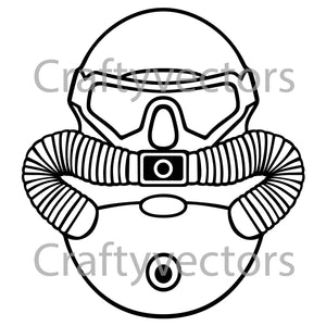 Marine Corps Diver Badge Vector File