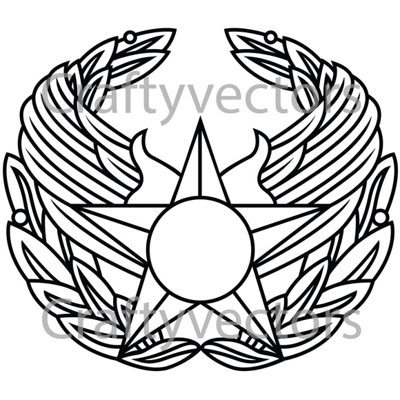 Air Force Commander Badge Vector File