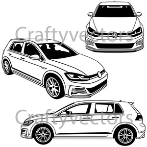 Volkswagen Golf GTI 2019 Vector