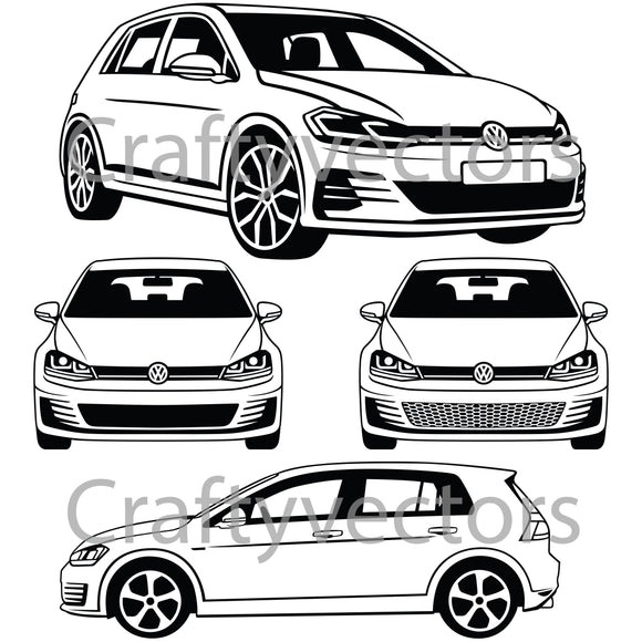 Volkswagen Golf GTI 2017 Vector