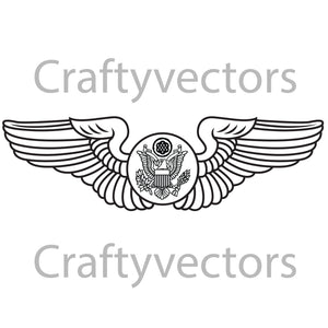 WW2 Army Air Crew Badge Vector File