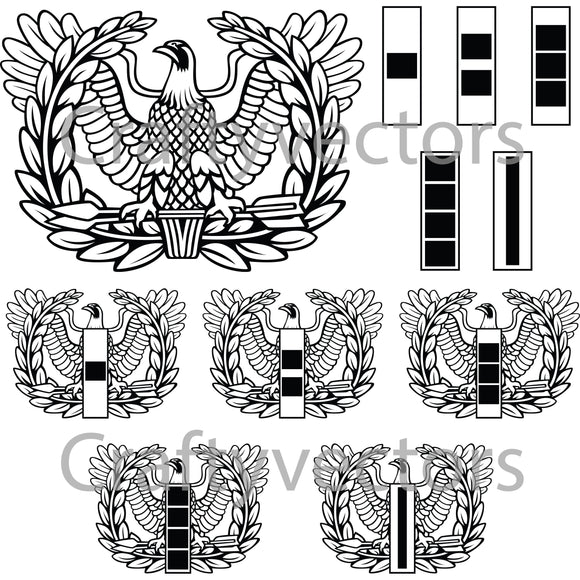 Army Warrant Officer Badge Vector File