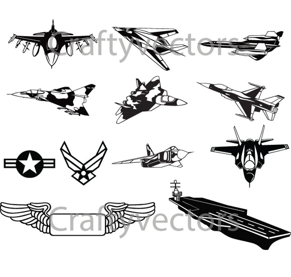 US Airforce Planes Vector File