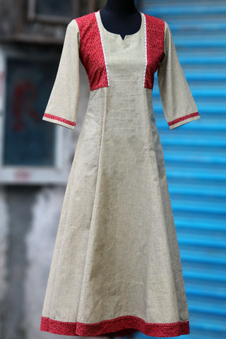sufi anarkali - brick & almond