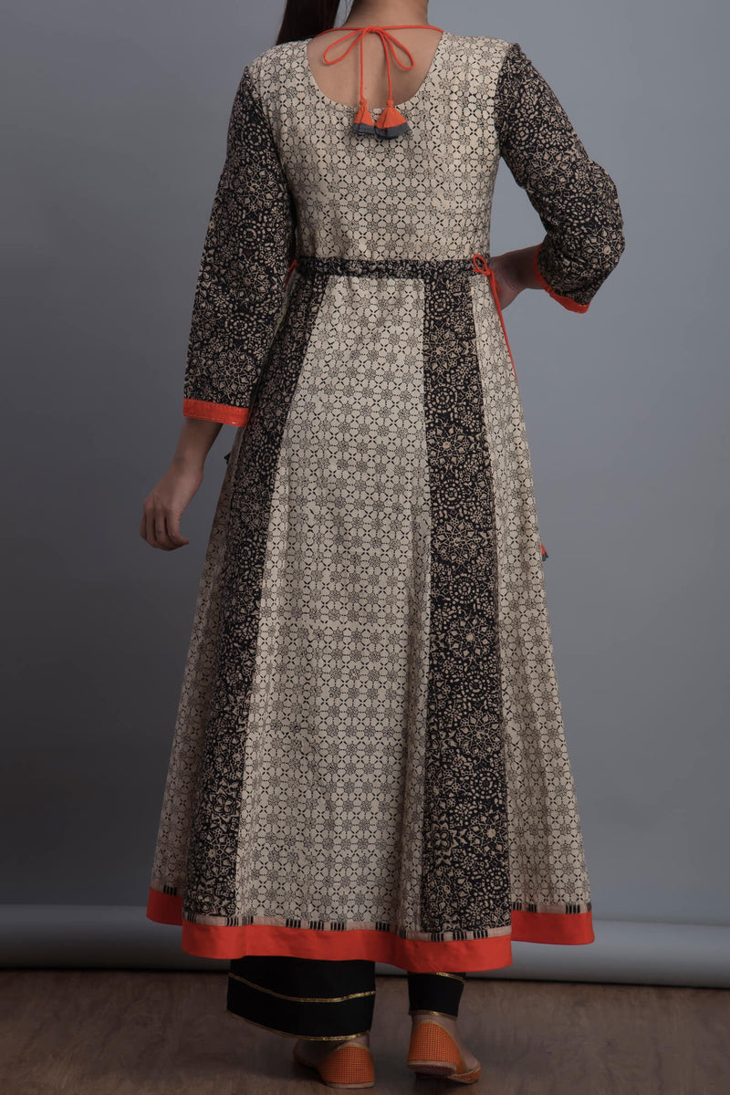 pintucked sufi anarkali - ink & impressions