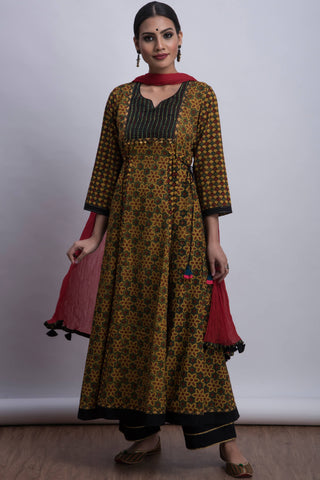 pintucked sufi anarkali - buttercup & bloom