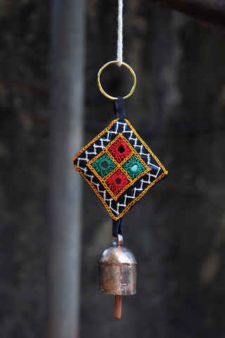 home decor - copper bell - embroidered key-chains