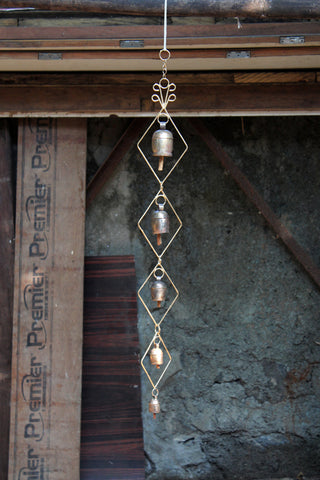 home decor - copper bell - small size frame set