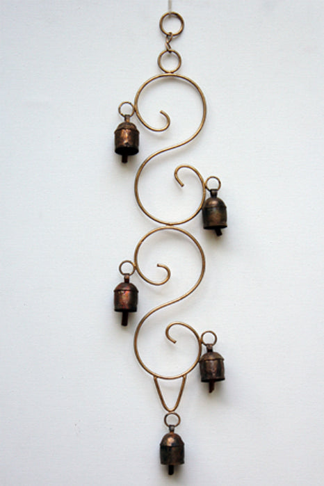 home decor - copper bell - creeper & windchime