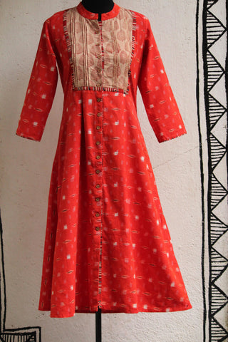 dress - ikat & orange