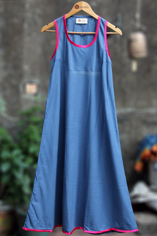 oversized dress - indigo & doby