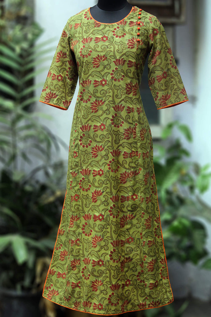 side potli long kurta - henna & harmony