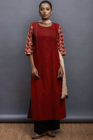 side potli long kurta - speckle & odyssey