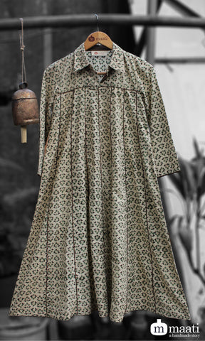 swing dress - green kali & mulberry