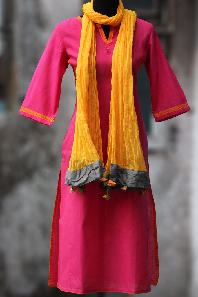 long kurta - lotus & lines