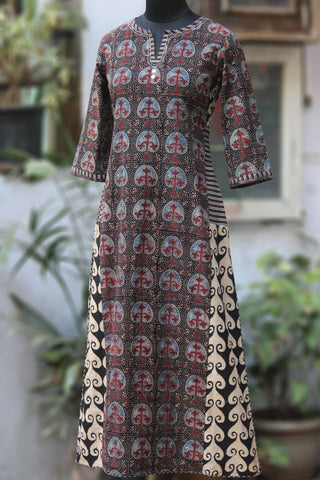 side panel long kurta - the banyan tree & trellis