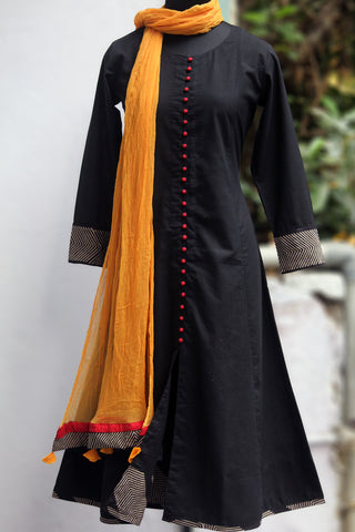 pop potli anarkali - coal & cherry
