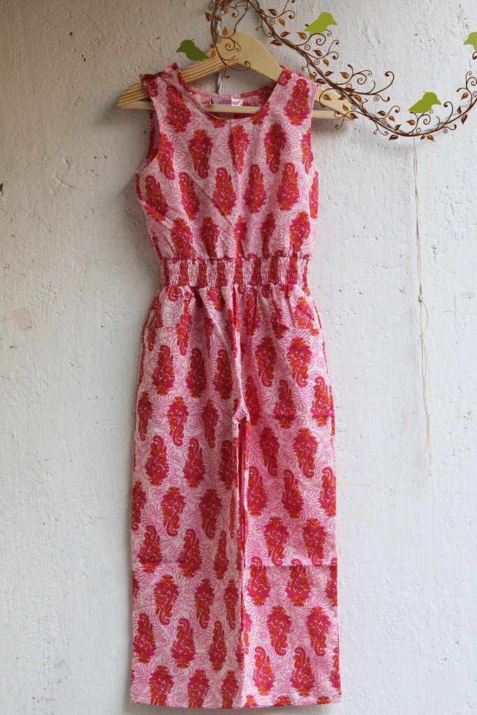 kidswear - pink long jumpsuit