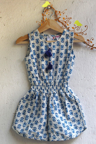 kidswear - blue short jumpsuit