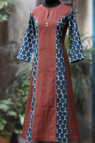 long kurta - red oak & the birch flutter