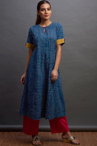 a-line kurta - indigo plains & the tribe