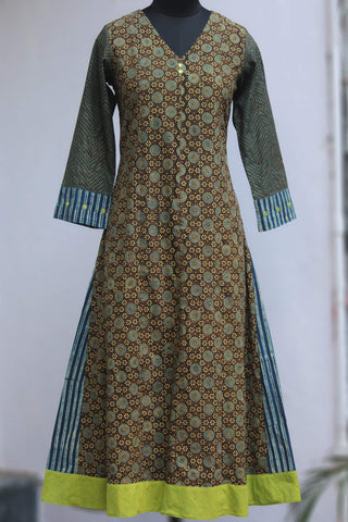 a-line anarkali - chakri over the fence