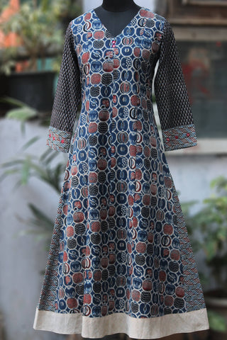 orchard a-line anarkali - indigo plum & the drizzles