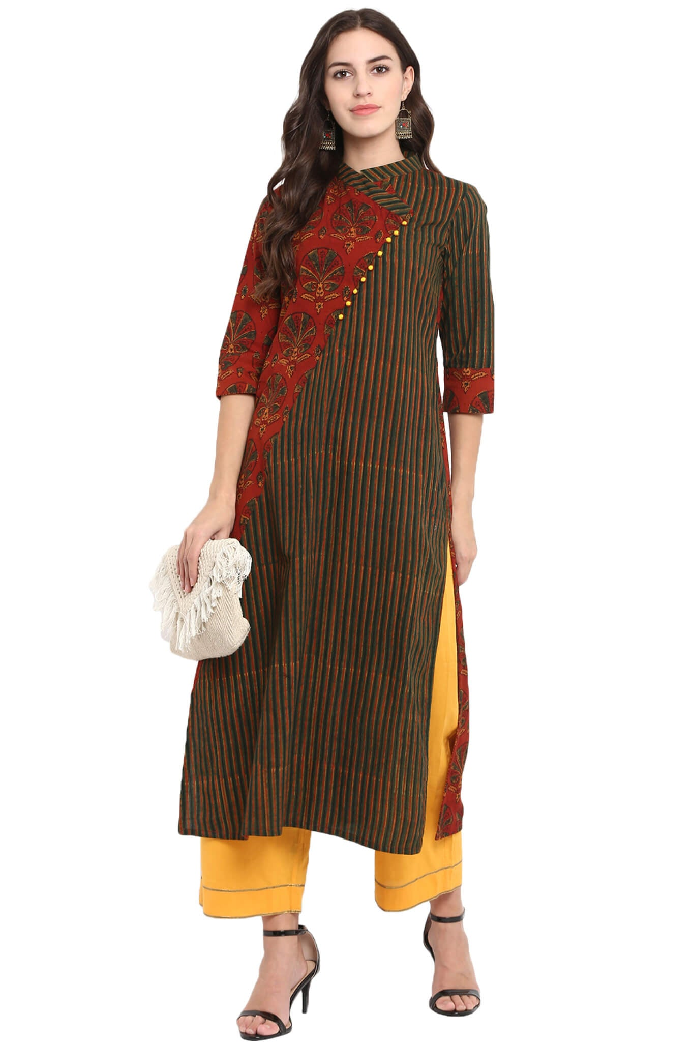 cross potli kurta - palm & paradise
