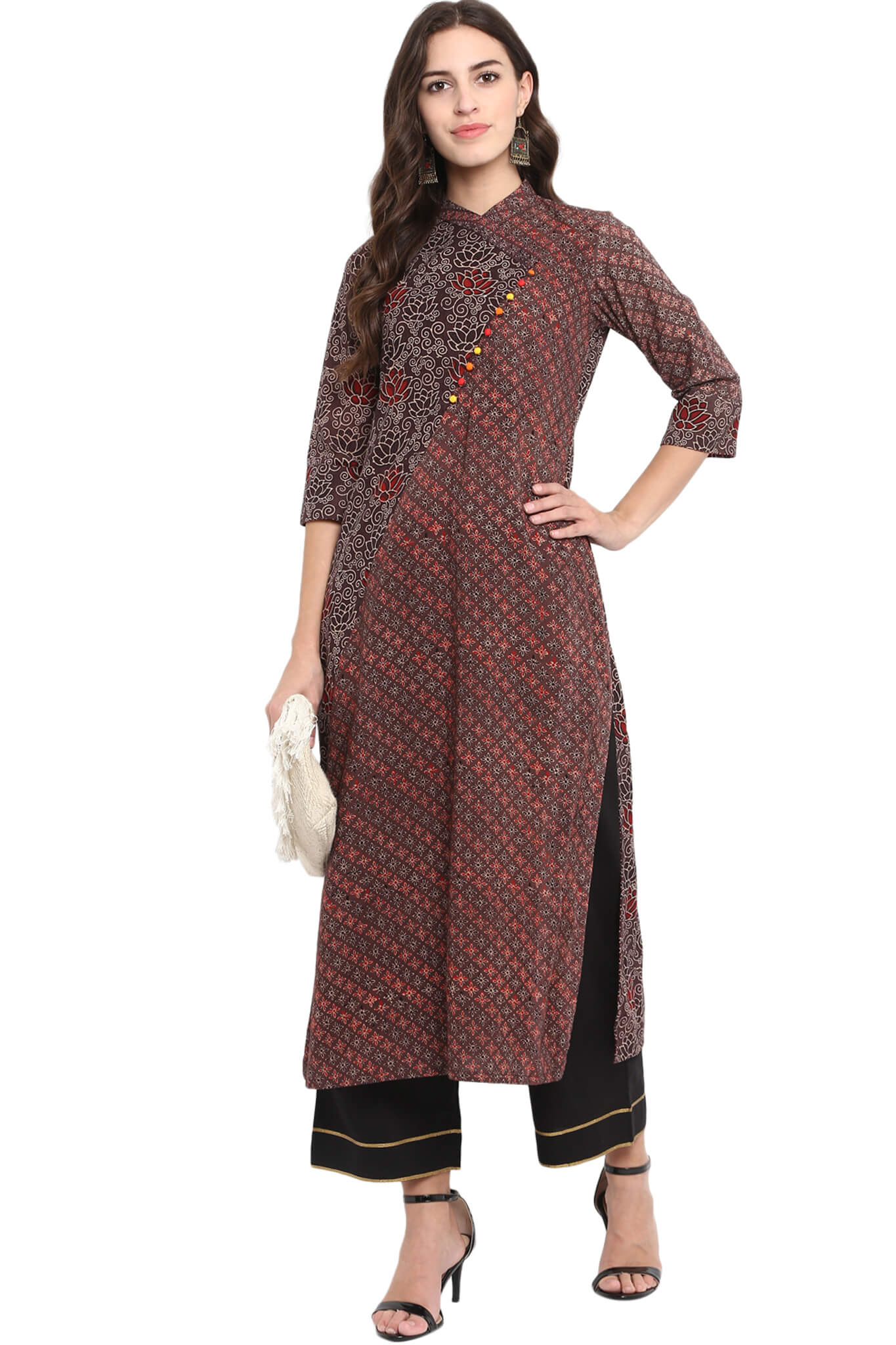 cross potli kurta - lotus & the woods
