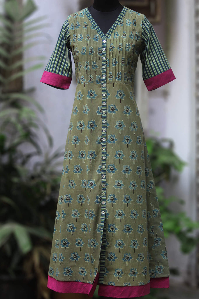 pintucked long kurta - valley & the primrose
