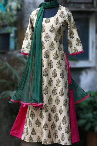 layered long kurta - sands of time & the oasis