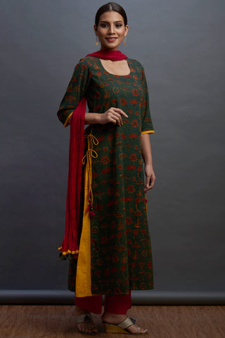 layered long kurta - jungle & the lotus story