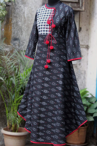 anghrakha dress - onyx & plaid