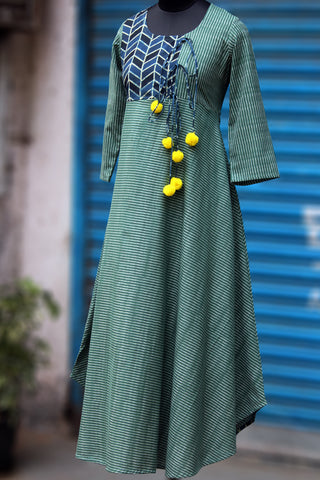 anghrakha dress - glorious ikat & ajrakh