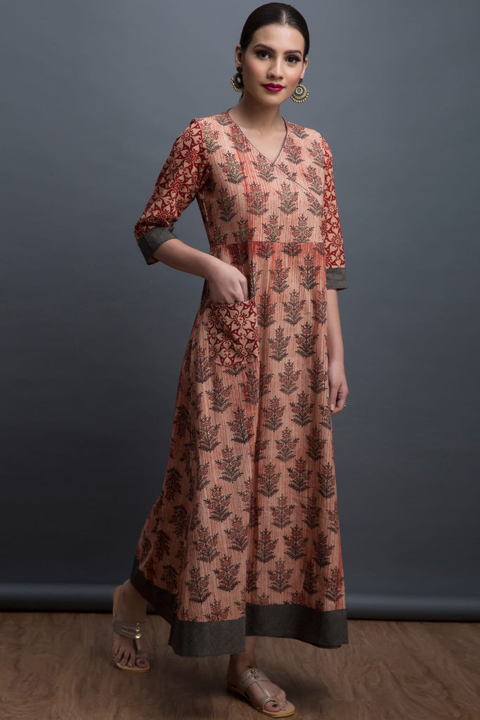 overlap anghrakha dress - hibiscus & the enchanted