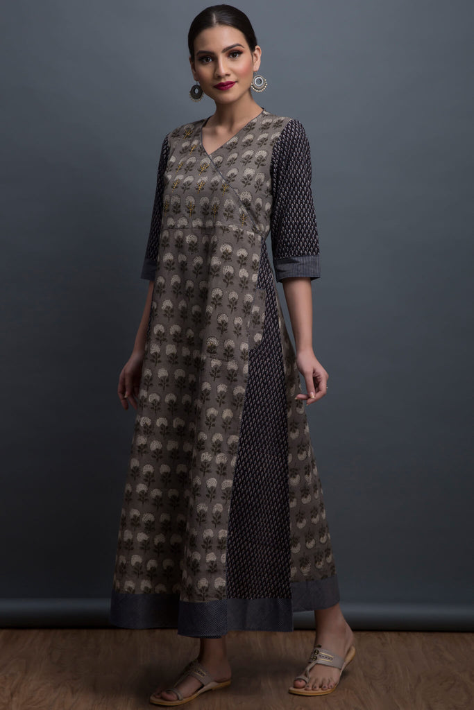 overlap anghrakha dress - peony & the pearls