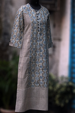 long kurta - kabootari & checkers